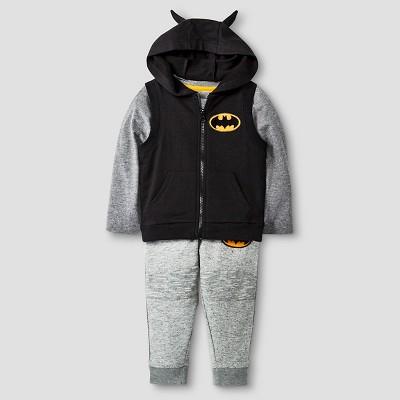 Baby Boys' Batman® 3-Piece Vest, T-Shirt, and Sweatpant Set - 12 M