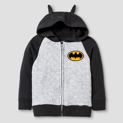 Batman® Baby Boys' Costume Hoodie - Heather Grey 12 M