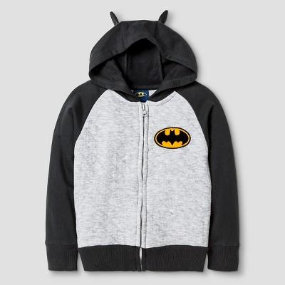 Batman® Toddler Boys' Costume Hoodie - Heather Grey 2T
