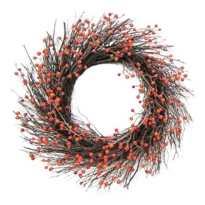 "Berry Wreath Orange (18"") Threshold™"