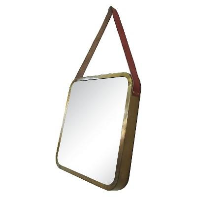 Metal & Leather Mirror - Threshold™