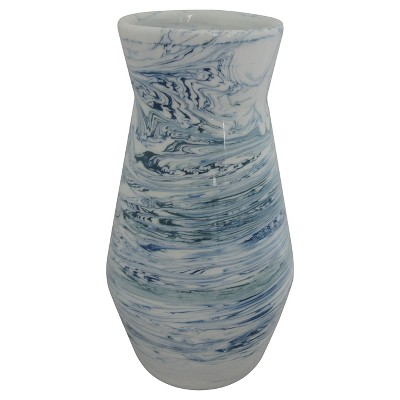 Marbled Vase White/Blue Medium  - Threshold™