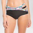 Women's Printed High Waist Bikini Bottom  - L Onyx - Vanilla Beach