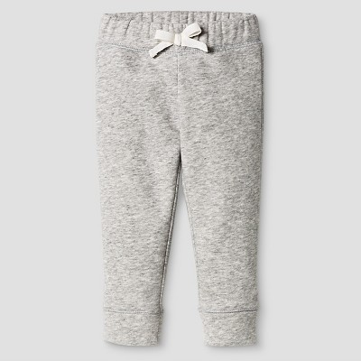 Baby Girls' Fleece Lounge Pant Grey 12M - Cat and Jack™