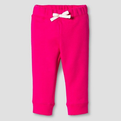 Baby Girls' Fleece Lounge Pant Pink 12M - Cat and Jack™