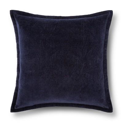 """Velvet Decorative Pillow Cover Navy (18""""x18"""") - Threshold™"""