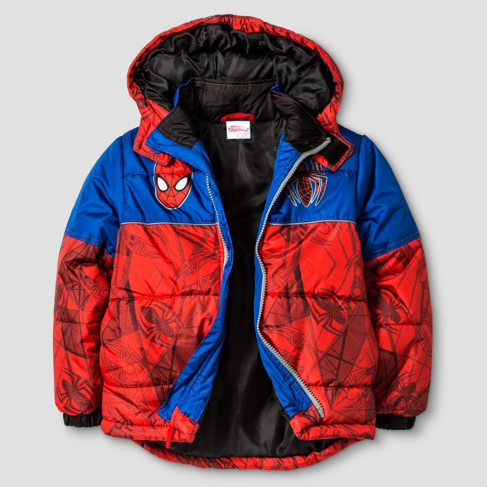 Puffer Jackets Marvel Spiderman 4 Red, Boy's