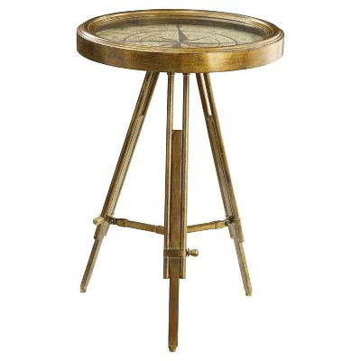 Compass End Table - Brass - Powell Company