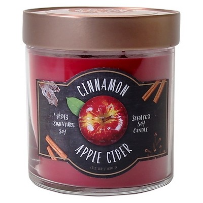 Signature Soy™ Candle Cinnamon Apple Cider - 15.2 oz