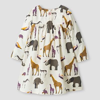 Happy by Pink Chicken Baby Girls' Animal Dress - Beige 3-6M