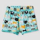 Toddler Girls' Kitty Print Short 2T  - Aqua