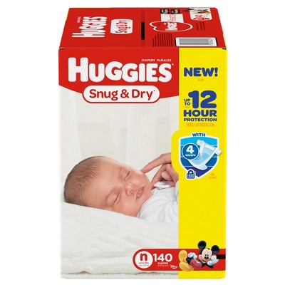 Huggies Snug & Dry Diapers, Giga Pack - Newborn  (140 Count)