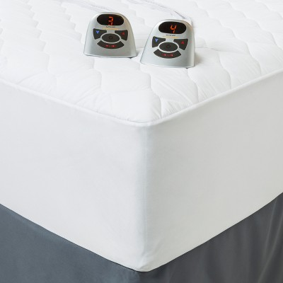 Heated Quilted Mattress Pad Queen White - Biddeford