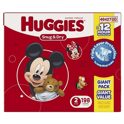 Huggies Snug & Dry Diapers, Giant Pack - Size 2  (198 Count)