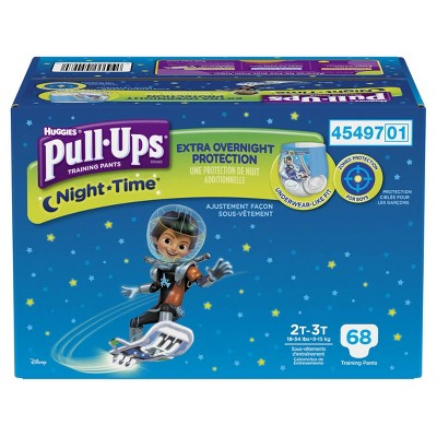 Pull-Ups Night Time Training Pants for Boys, Giga Pack - 2T-3T  (68 Count)