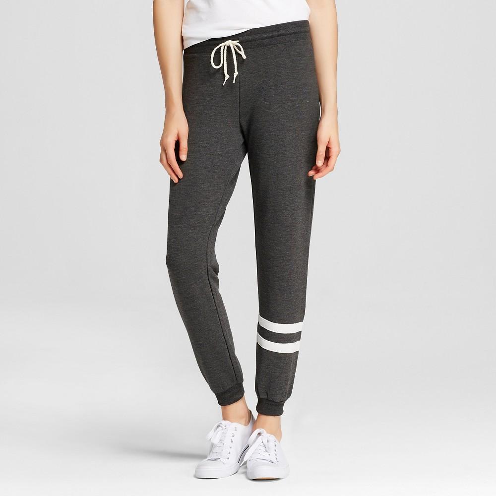 Women's Leg Striped Jogger Charcoal Heather S - L.O.L. Vintage, Size: Small