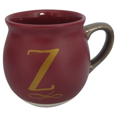 Monogram Belly Mug 16oz Stoneware Red - Z - Threshold™