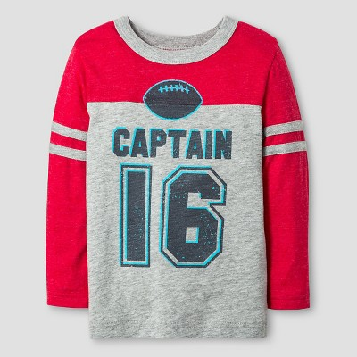 Toddler Boys' Long Sleeve T-Shirt Cat & Jack™ - Heather Grey 2T