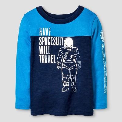 Toddler Boys' Long Sleeve T-Shirt Cat & Jack™ - Navy 2T