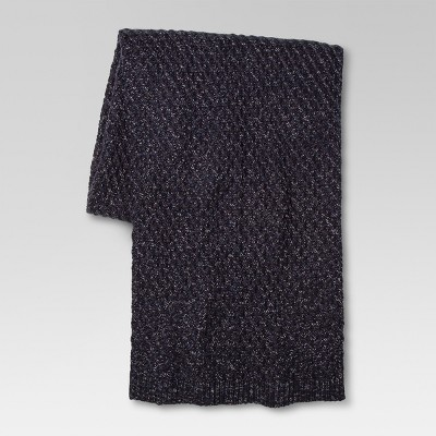 Throw Blanket Marled Sweater Knit Blue - Threshold™