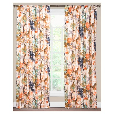 "Siscovers Summer Set Peach Curtain Panel - Summer Set Peach (52"" x 84"")"