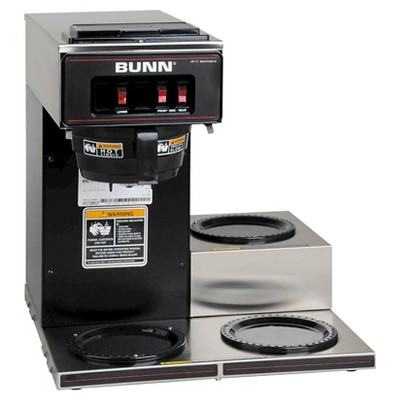 BUNN VP17-3 12 Cup Commercial Coffee Brewer - Black