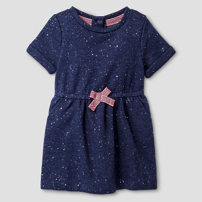Baby Girls' T-Shirt Foil Dress Navy 18M - Cat and Jack™