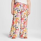 Women's Plus Size Printed Crepe Wide Leg Pant Graphic Art Print 24W - Forever Audrey