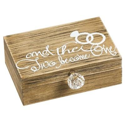 Wooden Ring Holder - Mr. & Mrs.