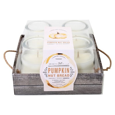 Candle Set Pumpkin Nut Bread - 4 pack