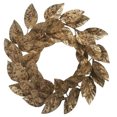 Metal Leaf Wreath Threshold™