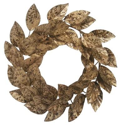 Metal Leaf Wreath Threshold™
