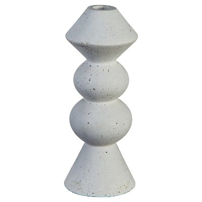 Concrete Taper Candle Holder Large - Threshold™