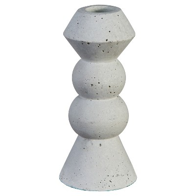 Concrete Taper Candle Holder Small - Threshold™