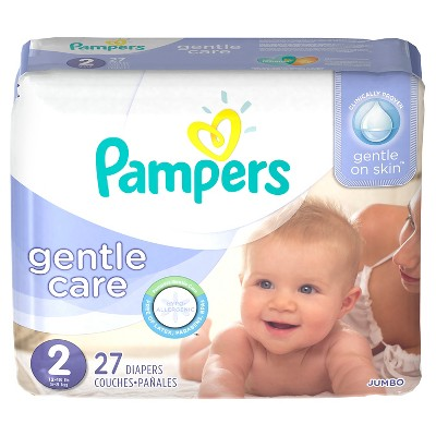 Pampers Gentle Care Diapers Jumbo Pack - Size 2 (27 Count)