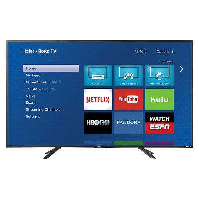"Haier 43"" LED Roku Smart TV 1080p - Black (43E4500R)"