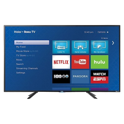 "Haier 49"" LED Roku Smart TV 1080p - Black (49E4500R)"