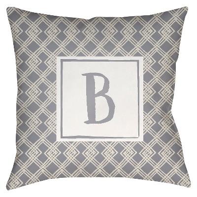 """Surya Treasured Bond Beta Pillow - Gray (18"""" x 18"""")"""