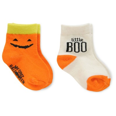 Just One You™Made by Carter's® Baby 2 Pack Halloween Socks - Orange White 6-12M