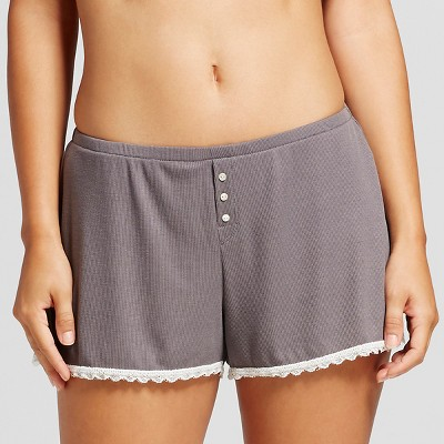 Women's Ribbed Shorts Iron Gray L - Xhilaration™