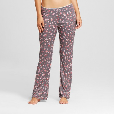 Women's Ribbed Pants Floral Print M - Xhilaration™