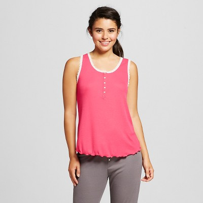 Women's Ribbed Sleep Top Dramatic Pink XL - Xhilaration™