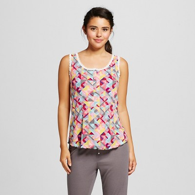 Women's Ribbed Sleep Top Multi-Colored XL - Xhilaration™