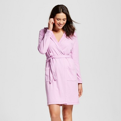 Women's Loop Terry Robe Pink Violet M/L - Xhilaration™