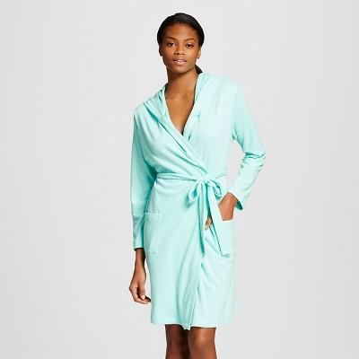 Women's Knit Hooded Robe Crystalized Green M/L - Xhilaration™