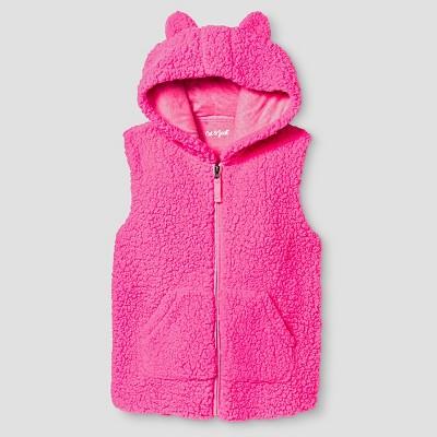 Girls' Cozy Vest Cat & Jack™ - Pink XS