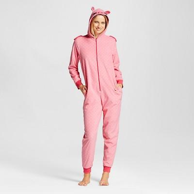 Women's Pig Union Suit Pajamas - Pink - M - Xhilaration™