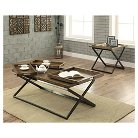 Occasional Table Set Warm Oak - Furniture of America