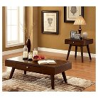 Occasional Table Set Burgundy Brown - Furniture of America