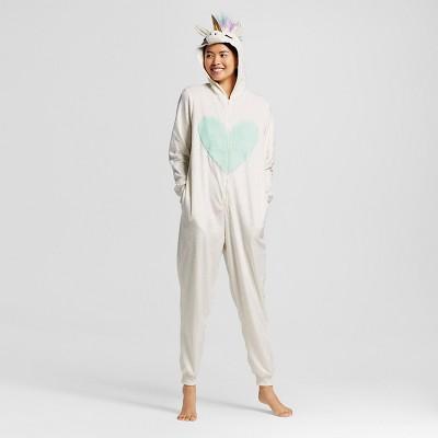 Women's Unicorn Union Suit Pajamas - Almond Cream - M - Xhilaration™
